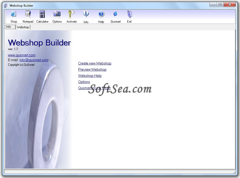 Webshop Builder Screenshot