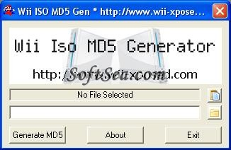Wii ISO MD5 Generator Screenshot