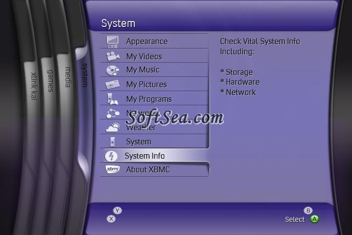 XBOX Media Center Screenshot