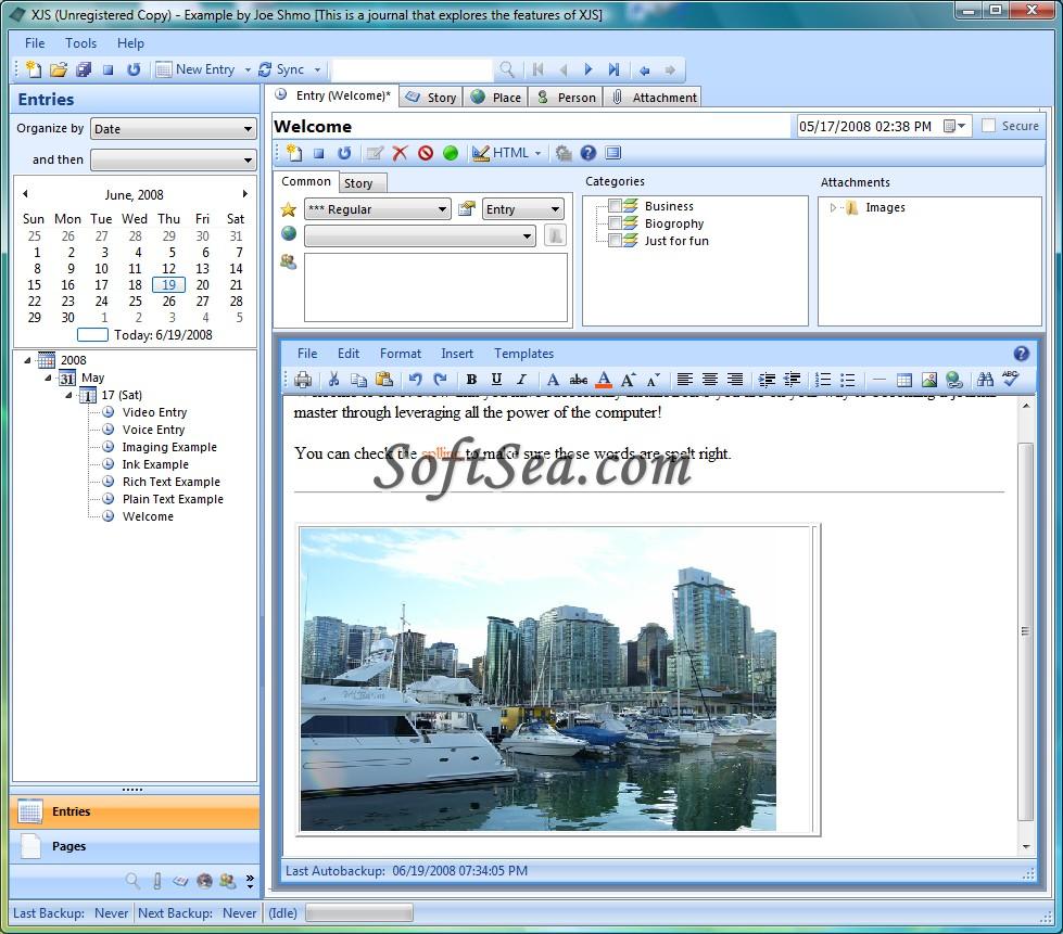 Xtreme Journal System Screenshot