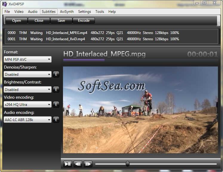 XviD4PSP Screenshot