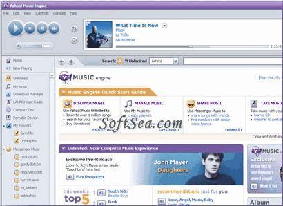 Yahoo! Music Jukebox Screenshot