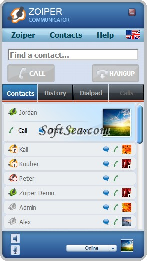 Zoiper Communicator Screenshot